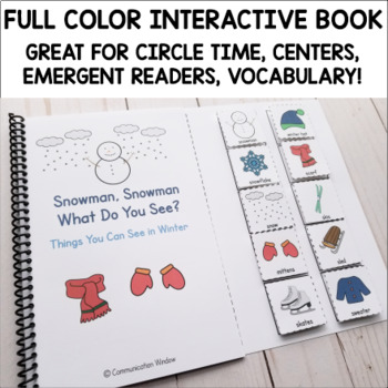 Snowman, Snowman What Do You See? Winter Interactive Adapted Book