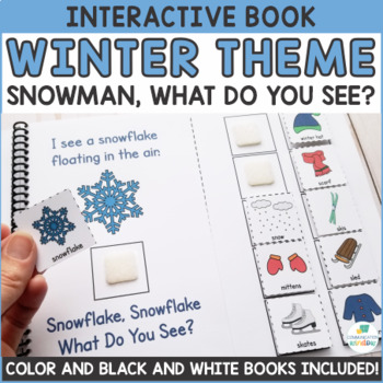 Winter Theme What Do You See? Interactive Adapted Book