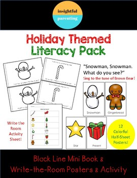 Snowman, Snowman. What do you see? Original minibook & write the room activity!