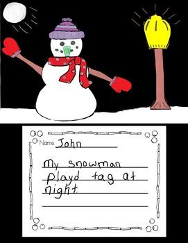 Snowman, Snowmen at Night, Snowmen at Night Activity, Snowmen at Night Writing