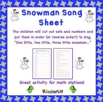 Snowman Song Sheet