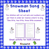 Snowman Math - Counting Sets Song Sheet