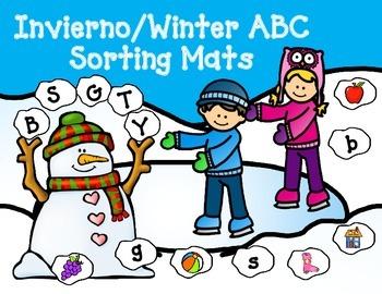 Snowman Alphabet Sorting Mats:  Spanish Alphabet