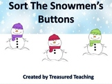 Snowman Sorting Numbers 0-4 Hands on Math Center Activity