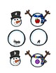 Snowman Sounds!: Two Initial Sounds and Letter Identification Matching Games