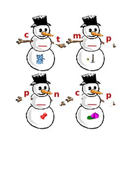 Snowman Sounds- medial a, i, o
