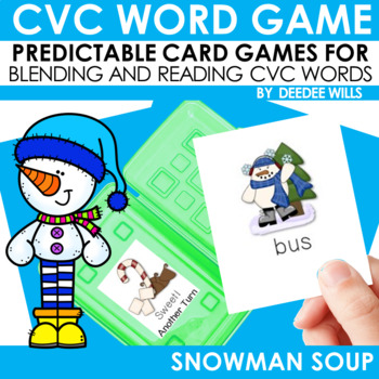 Snowman Soup! A CVC Memory Match and Game