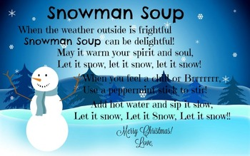 Snowman Soup Christmas tag