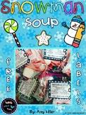 Snowman Soup Free Labels