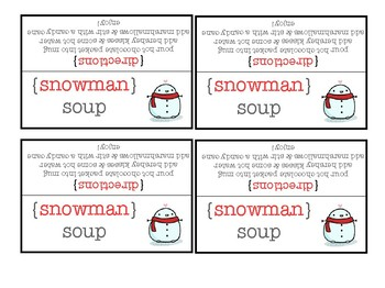 photograph relating to Snowman Soup Printable Tag identified as Snowman Soup Present Tags Worksheets Education Components TpT