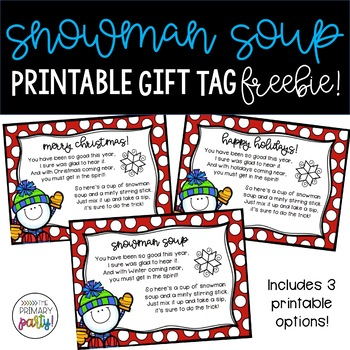 graphic relating to Snowman Soup Printable Tag identify Snowman Soup Reward Tags Worksheets Instruction Elements TpT