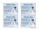 Snowman Soup Goodie Bag Labels