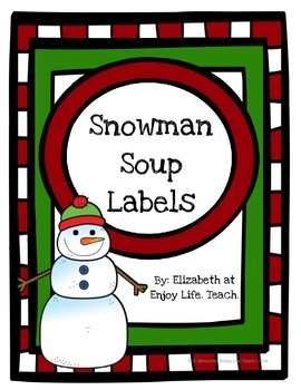Snowman Soup Labels