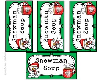 image about Free Printable Snowman Soup Labels identified as Snowman Soup Labels- Xmas Present