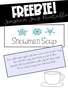 photo regarding Snowman Soup Free Printable Bag Toppers referred to as Snowman Soup Printable Worksheets Lecturers Spend Academics