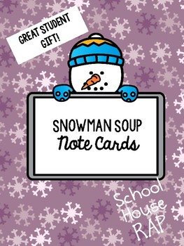 Snowman Soup Student Gift for Winter Holidays