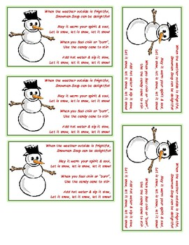 photo relating to Snowman Soup Poem Printable called Snowman Soup Printable Worksheets Academics Pay back Lecturers