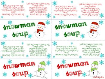 Snowman Soup Topper