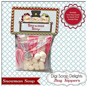 Snowman Soup: Treat or Gift Bag Topper