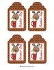 Snowman Soup and Reindeer Soup Cocoa Packet Covers and Tags