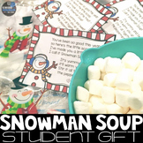 Snowman Soup poem and label