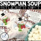Snowman Soup poem and label