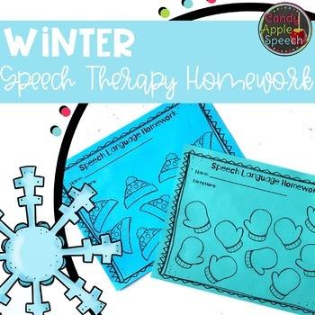 Snowman Speech Language Homework