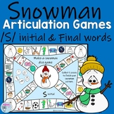 Winter Speech Therapy Articulation games for s words