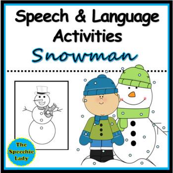 Snowman - Speech and Language Activities