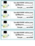 Snowman Spelling Test Certificate