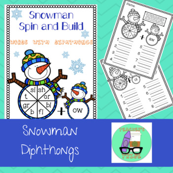 Snowman Spin and Build - Words with Diphthongs