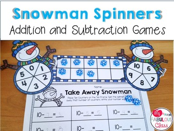 Snowman Spinner Addition and Subtraction