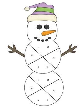 Snowman Spinner Math