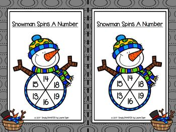 Snowman Spins A Number:  LOW PREP Identify and Write Number Activities
