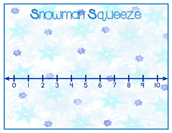Snowman Squeeze:  A Comparing Numbers Game