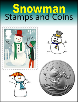 Snowman Stamps and Coins