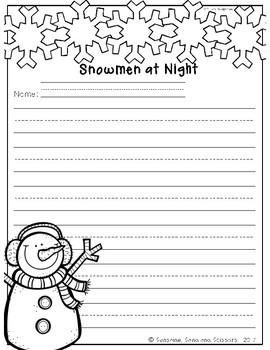 Snowman Stories Print and Go Plans