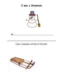 Snowman Spatial Concepts Activity Book