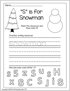 Snowman Story, Craft and Role Play