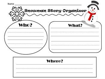 Snowman Story Organizer and Writing Sheet