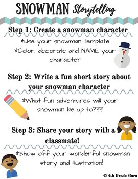 Snowman Storytelling Packet
