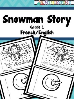 Snowman booklet -French/English