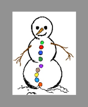 Snowman Student Jobs: visual for class jobs