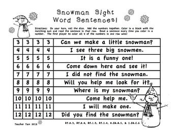 FREE! Snowman Stuff Math and Literacy Pack