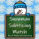 Snowman Subitizing! An Engaging Math Matching Activity for