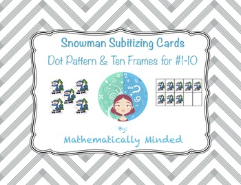 Snowman Subitizing Cards