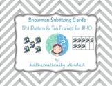 Snowman Subitizing Cards