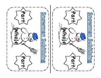 Snowman Subitizing Great for teaching Common Core
