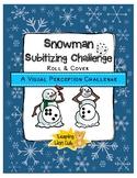 Snowman Subitizing Roll & Cover: A Visual Perception Challenge