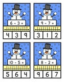 NUMBER LINE SUBTRACTION TO TEN - Snowman Theme